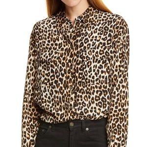 Equipment Femme 100% Silk Leopard Top
